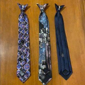 Bundle of 3 Clip on Ties